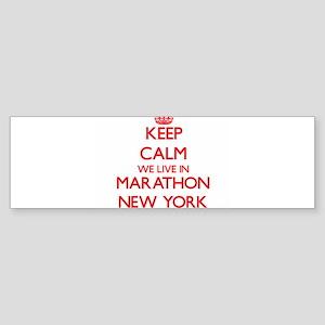 Keep calm we live in Marathon New Y Bumper Sticker