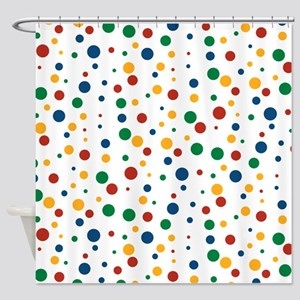Retro Clowny Dots Shower Curtain