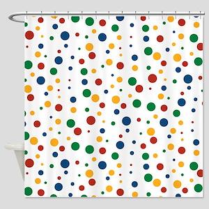 de6b556659f27 Retro Clowny Dots Shower Curtain