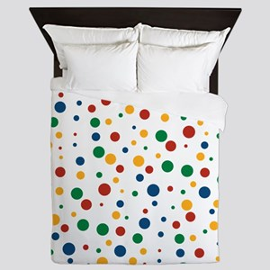 Retro Clowny Dots Queen Duvet