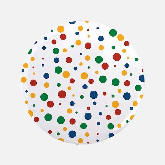"Retro Clowny Dots 3.5"" Button"