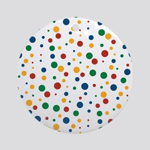 Retro Clowny Dots Ornament (Round)