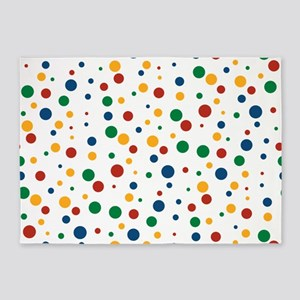 Retro Clowny Dots 5'x7'Area Rug