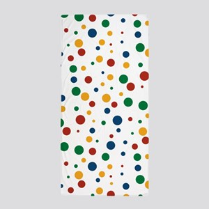 Retro Clowny Dots Beach Towel