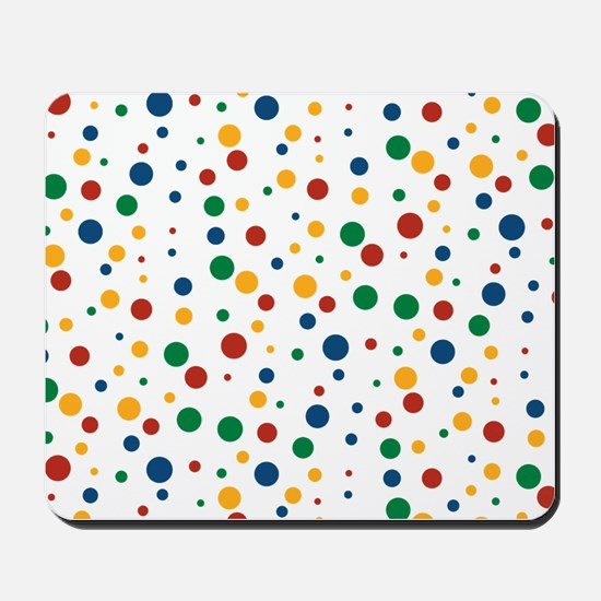 Retro Clowny Dots Mousepad