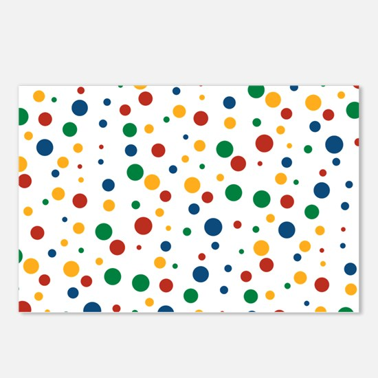 Retro Clowny Dots Postcards (Package of 8)