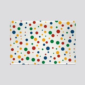 Retro Clowny Dots Rectangle Magnet