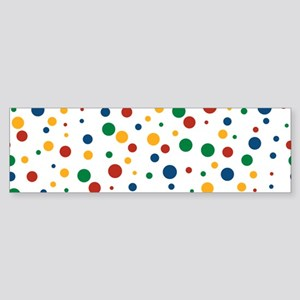 Retro Clowny Dots Sticker (Bumper)