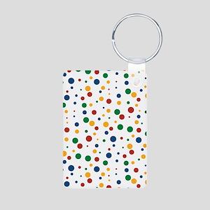 Retro Clowny Dots Aluminum Photo Keychain