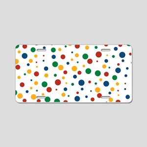 Retro Clowny Dots Aluminum License Plate