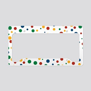 Retro Clowny Dots License Plate Holder
