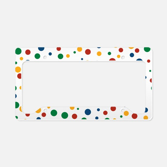 Retro Clowny Dots License Plate Holder