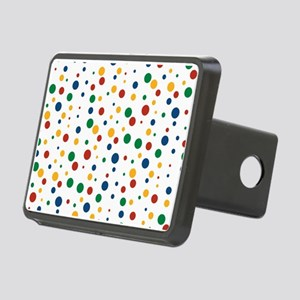 Retro Clowny Dots Rectangular Hitch Cover
