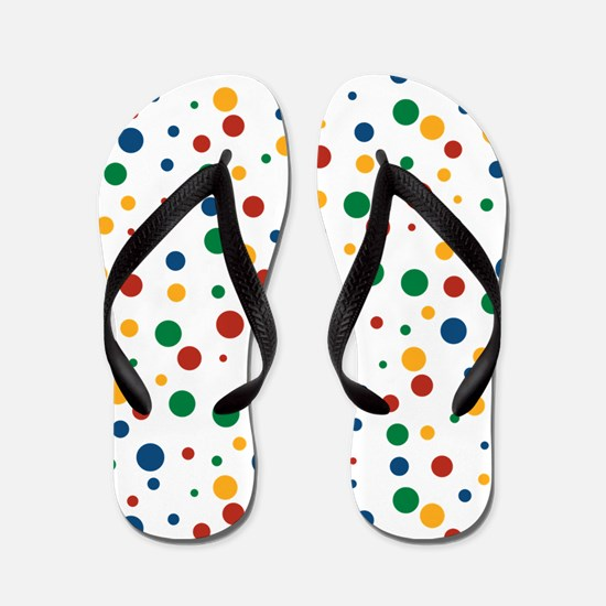 Retro Clowny Dots Flip Flops