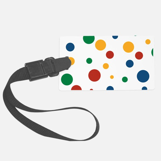 Retro Clowny Dots Luggage Tag