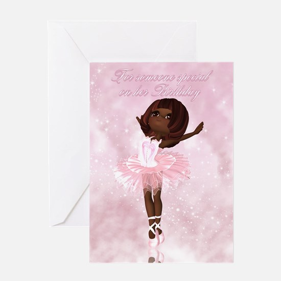 Ballet Dancer Birthday Card Greeting Cards