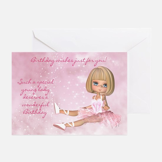 Ballerina Birthday Greeting Cards (pk Of 20)