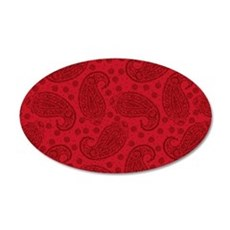 Red Paisley Pattern Wall Decal