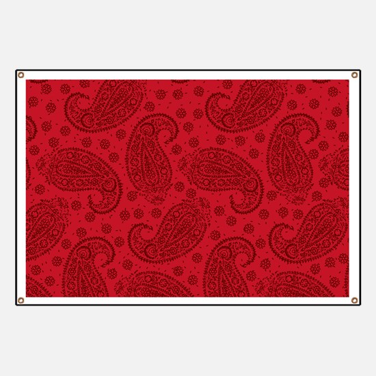 Red Paisley Pattern Banner