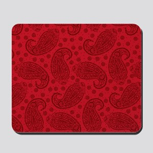 Red Paisley Pattern Mousepad