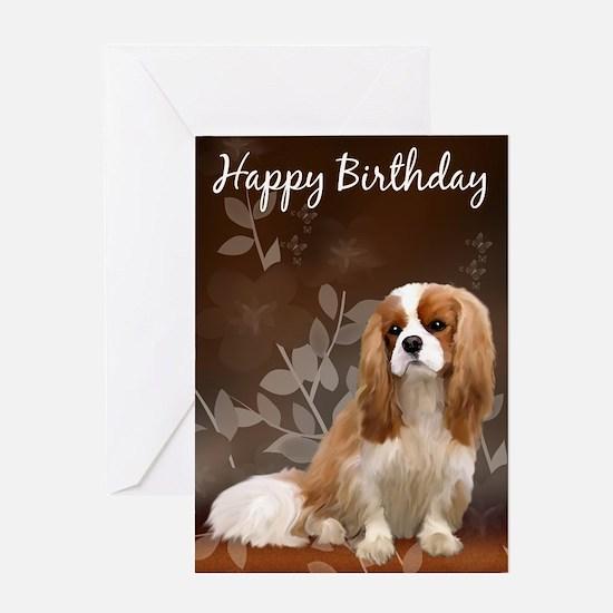 King Charles Spaniel Birthday Card Greeting Cards