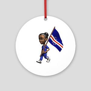 Cape Verde Girl Ornament (Round)