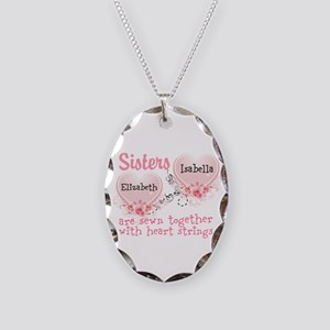 Personalize Sisters/best Necklace Oval Charm