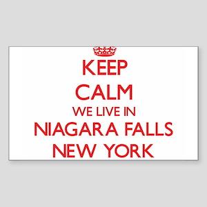 Keep calm we live in Niagara Falls New Yor Sticker