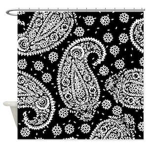 Black Paisley Shower Curtains