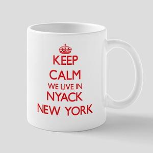 Keep calm we live in Nyack New York Mugs