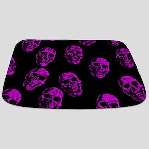 Purple SKULLS Bathmat