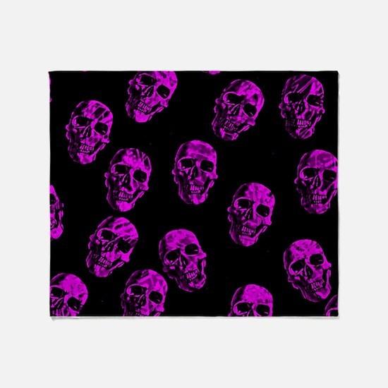 Purple SKULLS Throw Blanket