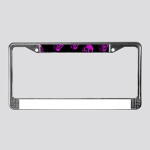 Purple SKULLS License Plate Frame