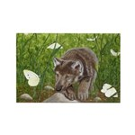 Chasing Butterflies: Rectangle Magnet (100 pack)