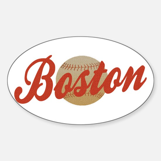 Boston Baseball design Oval Decal