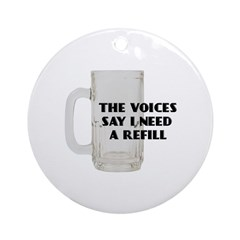 Beer Refill Ornament (Round)