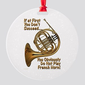 French Horn Perfection Round Ornament