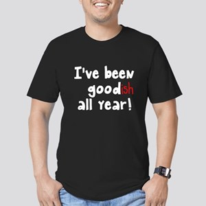 I've been goodish all Men's Fitted T-Shirt (dark)