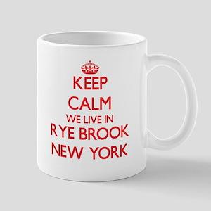 Keep calm we live in Rye Brook New York Mugs