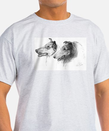 Rough and Smooth Collies Ash Grey T-Shirt