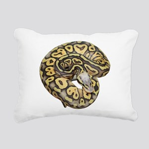 Super Pastel Ball Python Rectangular Canvas Pillow