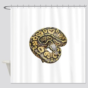 Super Pastel Ball Python Shower Curtain
