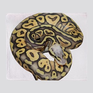 Super Pastel Ball Python Throw Blanket