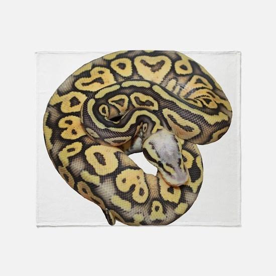 Super Pastel Ball Python Throw Blanket