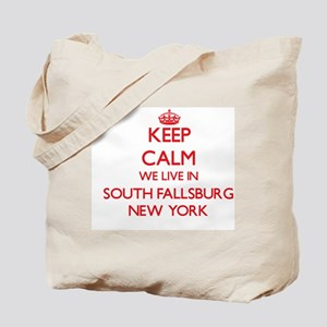 Keep calm we live in South Fallsburg New Tote Bag