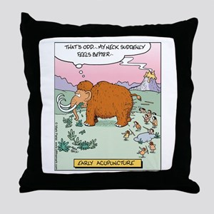 Early Acupuncture Throw Pillow