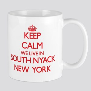 Keep calm we live in South Nyack New York Mugs