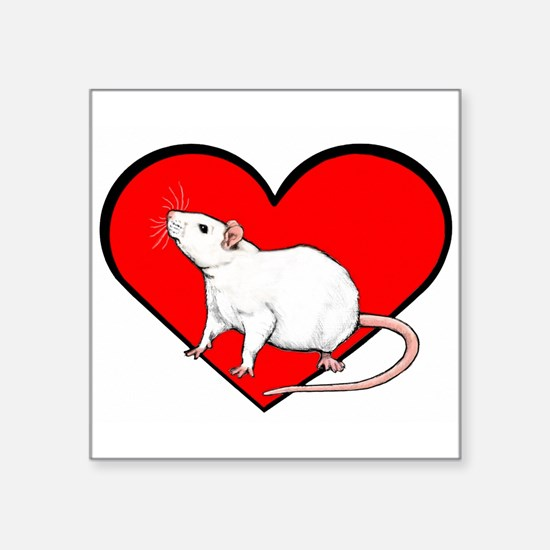 """Rodents Square Sticker 3"""" x 3"""""""