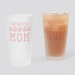 Newfie Mom Drinking Glass