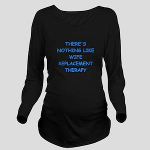 divorce Long Sleeve Maternity T-Shirt